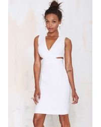 Nasty Gal Finders Keepers Remix Cutout Dress white - Lyst
