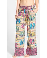 Bollydoll | 'Innocence' Print Palazzo Trousers | Lyst
