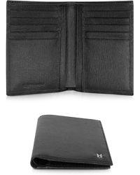 Moreschi - Black Leather Men's Vertical Wallet - Lyst