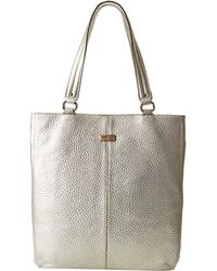 Cole Haan Gold Flat Tote - Lyst