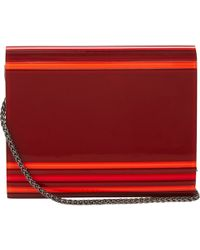Barneys New York Red Mina Clutch - Lyst