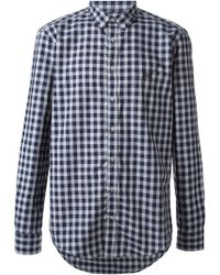 MSGM Gingham Check Shirt - Lyst