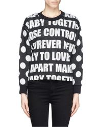 Sandro Thao Slogan Intarsia Sweater - Lyst