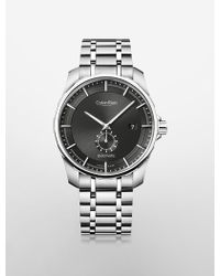 Calvin Klein Collection Stainless Steel Automatic Watch - Lyst