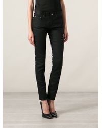 Saint Laurent Black Skinny Jeans - Lyst