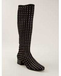 Saint Laurent 'Babies' Mid-Calf Boots - Lyst