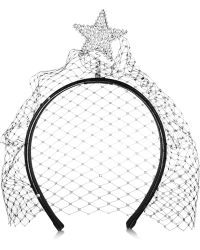 Piers Atkinson - Star Of Night Embellished Leather Headband - Lyst