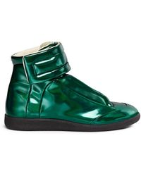 Maison Margiela 'Future' Velcro Strap High Top Sneakers green - Lyst