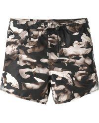 Neil Barrett Abstract Print Swimming Shorts - Lyst