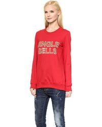 Markus Lupfer Jingle Bells Anna Sweatshirt - Red - Lyst
