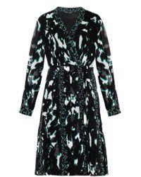 Proenza Schouler Feather-Print Silk Dress - Lyst