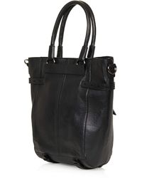 Topshop Premium Clean Leather Tote Bag - Lyst