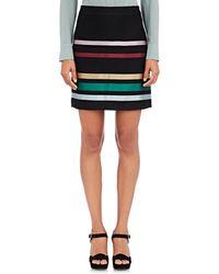 Alexander Lewis - Striped Jacquard Miniskirt - Lyst
