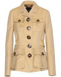 Burberry Prorsum Cotton Jacket beige - Lyst