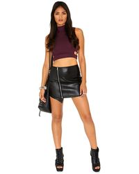 Missguided Zitane High Neck Cut Out Crop Top in Purple - Lyst