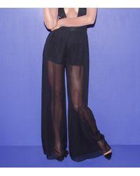 Fleur du Mal Sheer Wide Leg Trousers - Lyst