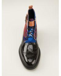 Vivienne Westwood Tartan Panel Brogue Boots - Lyst