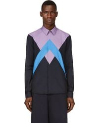 Kenzo Purple and Blue Patchworked Twin Peaks Shirt - Lyst