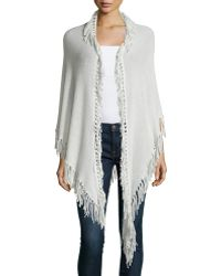 Minnie Rose | Cashmere Fringe-trim Wrap | Lyst