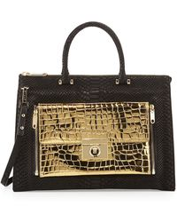 Milly Sienna Python  Crocembossed Twoinone Tote Bag - Lyst