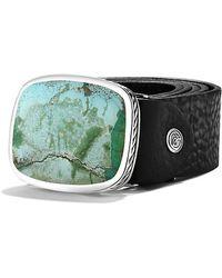 David Yurman - Exotic Stone Belt Buckle With Turquoise - Lyst