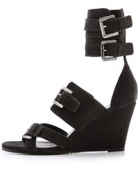 Surface To Air - Duarte Wedge Sandals Grey - Lyst