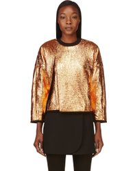 3.1 Phillip Lim Black and Copper Coated and Cracked Sweatshirt - Lyst