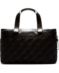 Lanvin Black Quilted Duffle Bag - Lyst