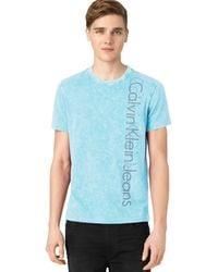 Calvin Klein Blue Logo T-shirt - Lyst