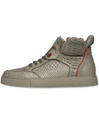 Royaums Handmade Python High Top Sneakers - Lyst