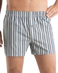 Hanro Fancy Woven Striped Boxer Shorts - Lyst