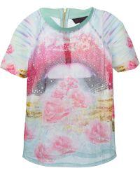 Manish Arora Embellished Mesh T-Shirt - Lyst