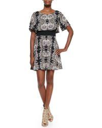Ella Moss Valerie Short-Sleeve Printed Dress - Lyst