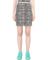 Illustrated People - Zebra Stretch-cotton Mini Skirt - Lyst