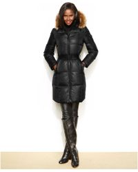 Marc New York Abigail Fauxfurtrim Belted Puffer Coat - Lyst
