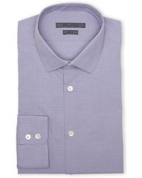 John Varvatos Purple Slim Fit Plaid Dress Shirt - Lyst