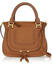 Chloé The Marcie Medium Textured-leather Tote - Lyst