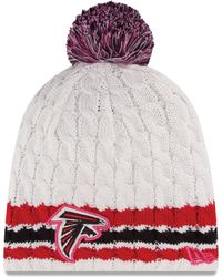 New Era Women'S Atlanta Falcons Breast Cancer Awareness Knit Hat - Lyst
