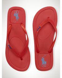 Polo Ralph Lauren Red Halesowen Flip-Flop - Lyst