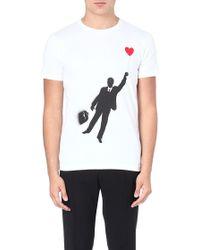 Moschino Balloon Man Cotton Tshirt White - Lyst
