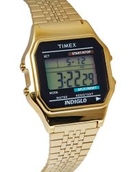 Timex® Classic Digital Goldtone Bracelet Watch - Lyst
