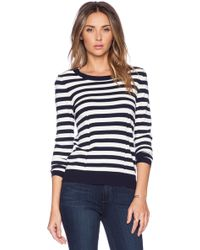 Milly Zip Back Pullover Sweater - Lyst