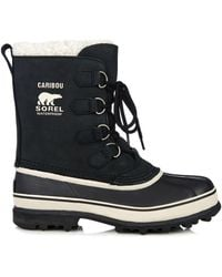 Sorel Caribou™ Suede And Rubber Boots - Lyst