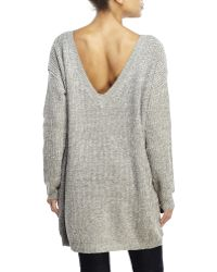 Cecico - Oversized V-Back Sweater - Lyst
