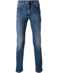 Neil Barrett Washed Skinny Jeans - Lyst