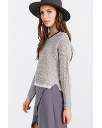 Blu Pepper - Lace Trim Pullover Sweater - Lyst