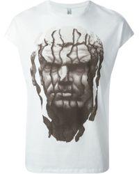 Neil Barrett White Printed T-Shirt - Lyst