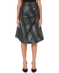 Vivienne Westwood Anglomania Survival Metallic Skirt Blue - Lyst