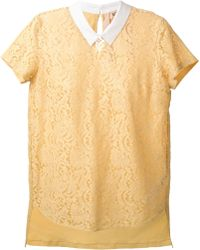 N°21 Contrast Collar Lace Top - Lyst