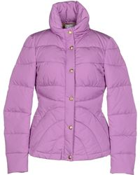 Versace Purple Down Jacket - Lyst